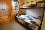 Summit 14 4th bedroom with bunks for 3 guests