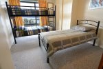 Summit 14 3rd bedroom with set of bunks and single bed for 3 guests