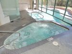 On-site steam room, hot tub and pool
