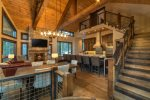 Cabins Lane offers a beautiful open-concept living space