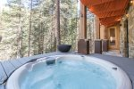 Enjoy the views while soaking in your private hot tub