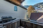Views of the ski hill from your private deck with BBQ grill