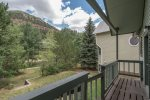 One of the rare homes in Telluride where you actually have outdoor green space that feels quiet