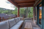 Enjoy the incredible outdoor space with epic mountain views