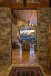 Stone flanked entryway inviting you in