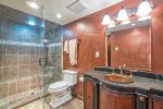 Guest bathroom with steam shower