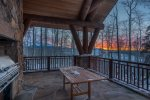 Enjoy impeccable sunsets from your deck with a BBQ grill