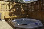 Enjoy a soak in the shared hot tub winter only