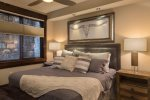 Third bedroom with king bed and beautiful decor