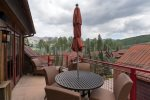 Enjoy the weather or views from your private patio