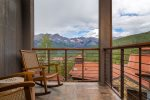 Private deck off the master bedroom with gorgeous mountain views