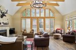 Vaulted ceilings and extra large windows let in tons of natural light