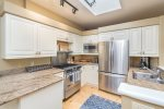 Enjoy stainless steel appliances in the fully-equipped kitchen