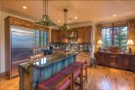 The kitchen offers great space, layout and finishes