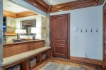 Master bedroom suite with private deck gorgeous views to Double Cabins ski run
