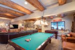 Challenge your friends or family to a game of pool or foosball in the game room