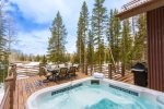 6-8 person hot tub just steps off the front deck