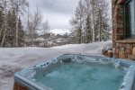 Soak the day away in the outdoor hot tub