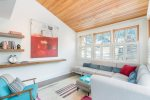 Enjoy the views and the bright colors in the living room