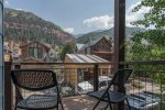 Sit out on your private deck and enjoy the mountain views beyond