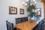 Dining area with seating for 8 guests
