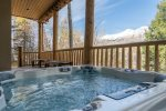 Private hot tub with gorgeous views