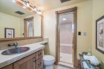 Walk in steam shower in the guest room