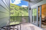 From your private deck, enjoy views of the ski mountain