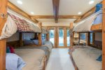A bunk room that sleeps 6 is perfect for making lots of guests comfortable