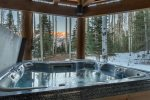 Jump into your private hot tub and relax