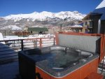 Enjoy the shared Blue Mesa roof top hot tub