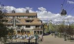 Exterior shot of the Blue Mesa building located in the heart of Mountain Village and just steps to the gondola