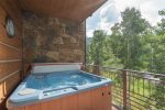 Enjoy a soak in your private hot tub