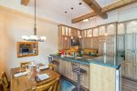 Bear Creek Loft B - Gourmet kitchen with barstool seating and dining for 4