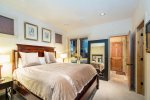 Master bedroom with King bed and access to private hot tub