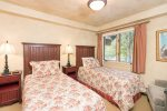 The third guest bedroom has two twin beds which can be converted into a king-sized bed for a $50 fee