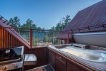Private hot tub and grill so you can enjoy the home both inside and out