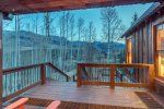 Hot tub is accessible from the master bedroom or the main living area