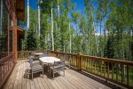 Soak in the fresh mountain air on the back deck