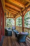 Enjoy coffee or cocktails on the fully-furnished back deck