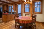 Breakfast nook in kitchen with seating for 5