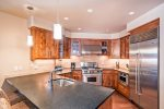 Fully Equipped Gourmet Kitchen - High-end Stainless Steel Appliances