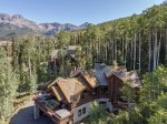 Gorgeous mountain views extend beyond the property