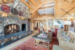 This amazing living space has a wood-burning fireplace, which is rare in Mountain Village
