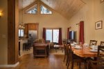 Wide open living space with vaulted ceilings and great views