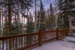 Enjoy the deck with the spectacular mountain views