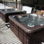 There are two common hot tubs for guests at Cimarron