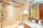 Guest bathrom with glass shower