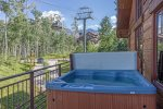 Private hot tub located on the deck
