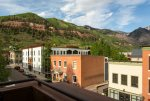 Looking over the town of Telluride from one of the Penthouses decks